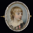 A Young Boy, thought to be George John, 2nd Earl Spencer by Richard Cosway