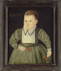 Portrait of a Three Year Old Boy by  English School c.1600