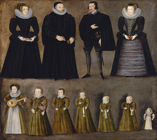 The Bartholomew Family of Burford, Oxon. by  English School c.1600