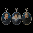 Three Portrait Miniatures by School  Flemish