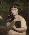 Portrait of a Girl with a Cat by Daniel Gardner