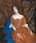 Portrait miniature of Mary of Modena by Richard Gibson