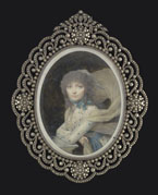 Portrait of a Lady in spotted dress, by Jean-Baptiste Isabey by Jean- Baptiste Isabey