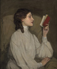 Miss Auras, The Red Book by Sir John Lavery by Sir John Lavery