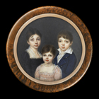 Three Children by Mlle Jeanne-Philiberte  Ledoux