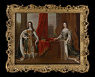 King William III and Queen Mary II by  English School