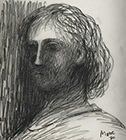 Head of a Girl by Henry  Moore