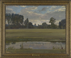 Landscape at Dedham by Sir Alfred Munnings PRA