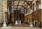 The Great Hall at Audley End by Joseph Nash