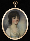 Portrait miniature of a young girl by James Nixon