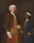 A Gentleman, possibly Sir George Thomas Bt, with a young Servant, by Charles Philips