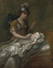 Princess Augusta as a Baby, with Britannia by Charles Philips