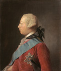 Portrait of King George III in profile (1738-1820 by Studio of Allan Ramsay