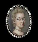 Portrait miniature of a Lady, probably Lady Lucy Douglas (née Graham) by John Smart
