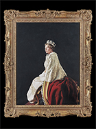 A Portrait of Her Majesty Queen Elizabeth II by Richard  Stone