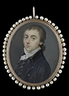 Portrait miniature of a Gentleman by Leonardus Temminck