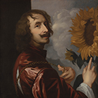 Self-Portrait with a Sunflower by Circle of Sir Anthony Van Dyck