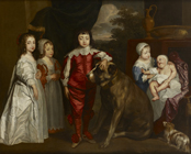 The Children of Charles I by  English School 17th Century