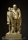 Sculpture of Winston Churchill and his Grandson, Winston by Willem Adolf Verbon