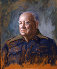 Sir Winston Churchill PM by Bernard Hailstone