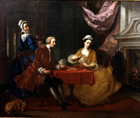 The Card Players by Joseph Francis Nollekens