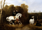 The Llamas in Windsor Great Park by Alfred de Dreux