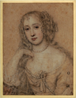 Drawing of a lady by Attributed to John Greenhill