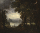Opening in the woods by Sir Joshua Reynolds PRA