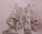 Design for 'America' on the Albert Memorial by John Bell