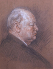 Sir Winston Churchill by Alfred Egerton Cooper