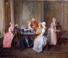 Card party by Hubert Francois Gravelot