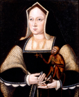 Queen Catherine of Aragon by  English School