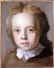 Sketch of a young boy by Hans Hysing