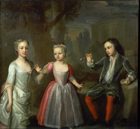 The Earl of Egmont and his sisters by George Knapton